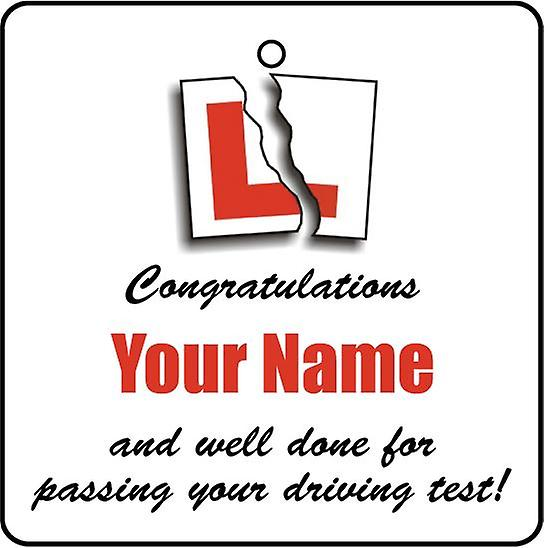 Personalised Driving Test Pass Car Air Freshener
