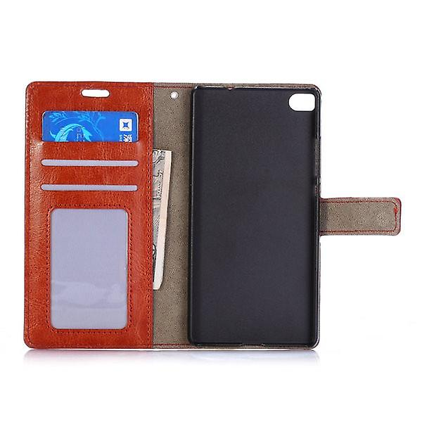Pocket wallet premium Brown for Huawei Ascend P8