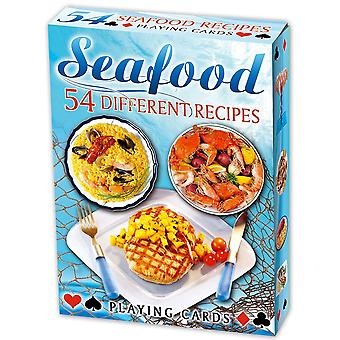 Seafood Recipes set of 52 playing cards (+ jokers)    (ix)