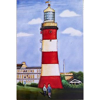 YH Arts Ceramic Wall Art, Lighthouse 8 x 12