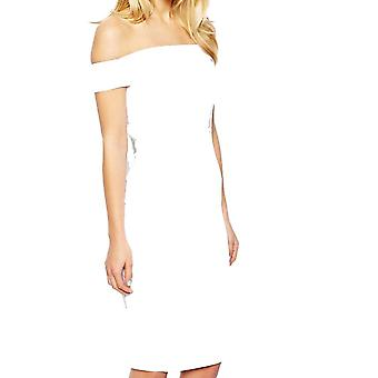 ASOS Petite Exclusive Bardot Pencil Dress with Strappy Back DR905-White-8