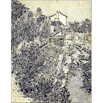 Vincent Van Gogh - The Garden with Flowers, 1888 Poster Print Giclee