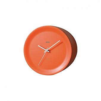 Alessi bordo montato Ora su orologio da parete - Orange