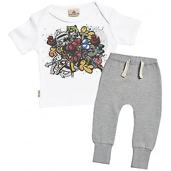 Spoilt Rotten Graffiti Baby T-Shirt & Joggers Outfit Set