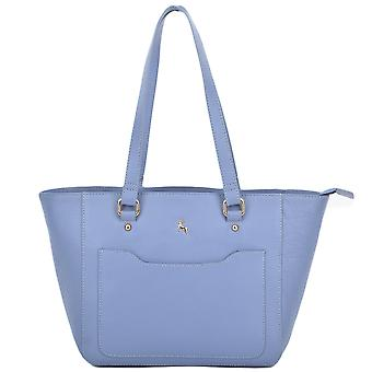 Ashwood Small Leather City Shopper - 61513 - Corn/blue
