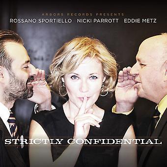 Sportiello / Parrott / Metz Jr. - Strictly Confidential [CD] USA import