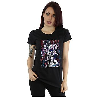 Suicide Squad Women's Harley Quinn Character Collage T-Shirt
