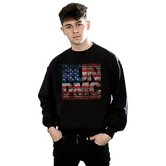 Run DMC Men's US Flag Logo Sweatshirt