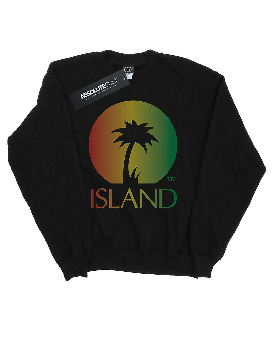 Island Records Men's Distressed Logo Sweatshirt