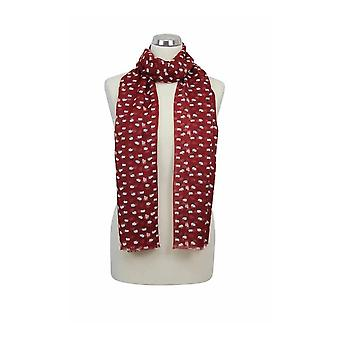 Peony Scarf - Sheep - Red
