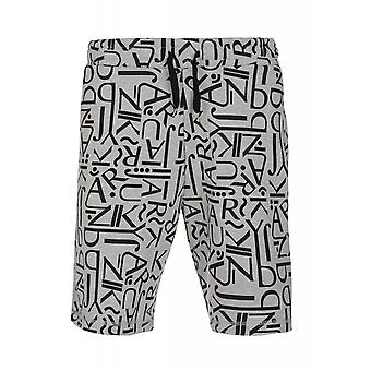 JUNK YARD Cliff letters shorts men's leisure shorts grey print