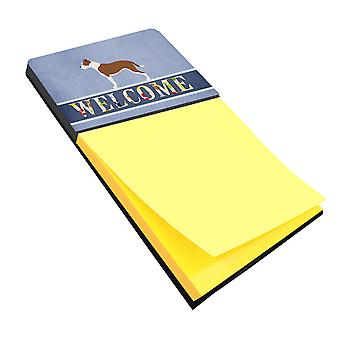 Carolines Treasures  BB8325SN Pit Bull Terrier Welcome Sticky Note Holder