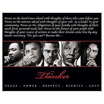 Denker (Quintett) Frieden macht Respekt würde Liebe Poster drucken (10 x 8)