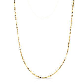 10k Fine Gold Mirror Chain Necklace (1.5 mm)