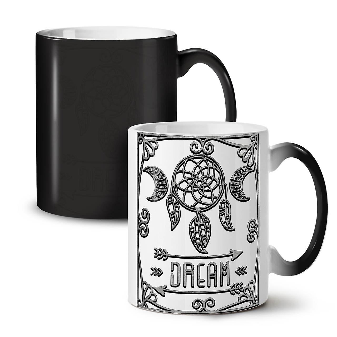 Changeant Céramique Couleur Rêver Tasse Nouvelle Thé De 11 OzWellcoda Café D'ornement Noir OnkX8P0w
