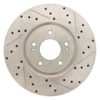 StopTech 227.46065L Select Sport Drilled and Slotted Brake Rotor; Rear Left