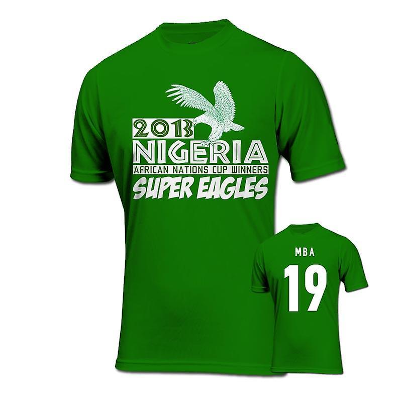 2013 Nigeria CAF Ganadores de la camiseta (verde) - Mba 19