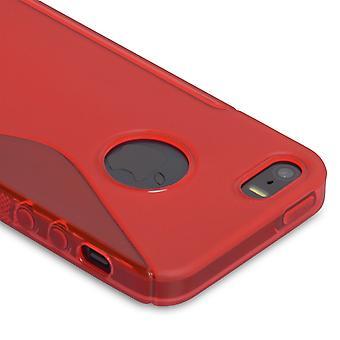 Caseflex Iphone SE S-Line Gel Case - Red