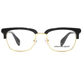 Alexander McQueen Edge AM0044 Glasses In Black