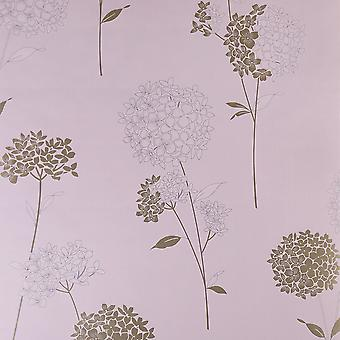Dulux Easy Hang Feature Wallpaper - Anabelle - Dusted Rose - 31-303