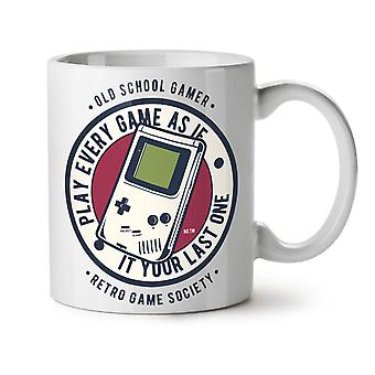 Gamer Society NEW White Tea Coffee Ceramic Mug 11 oz | Wellcoda