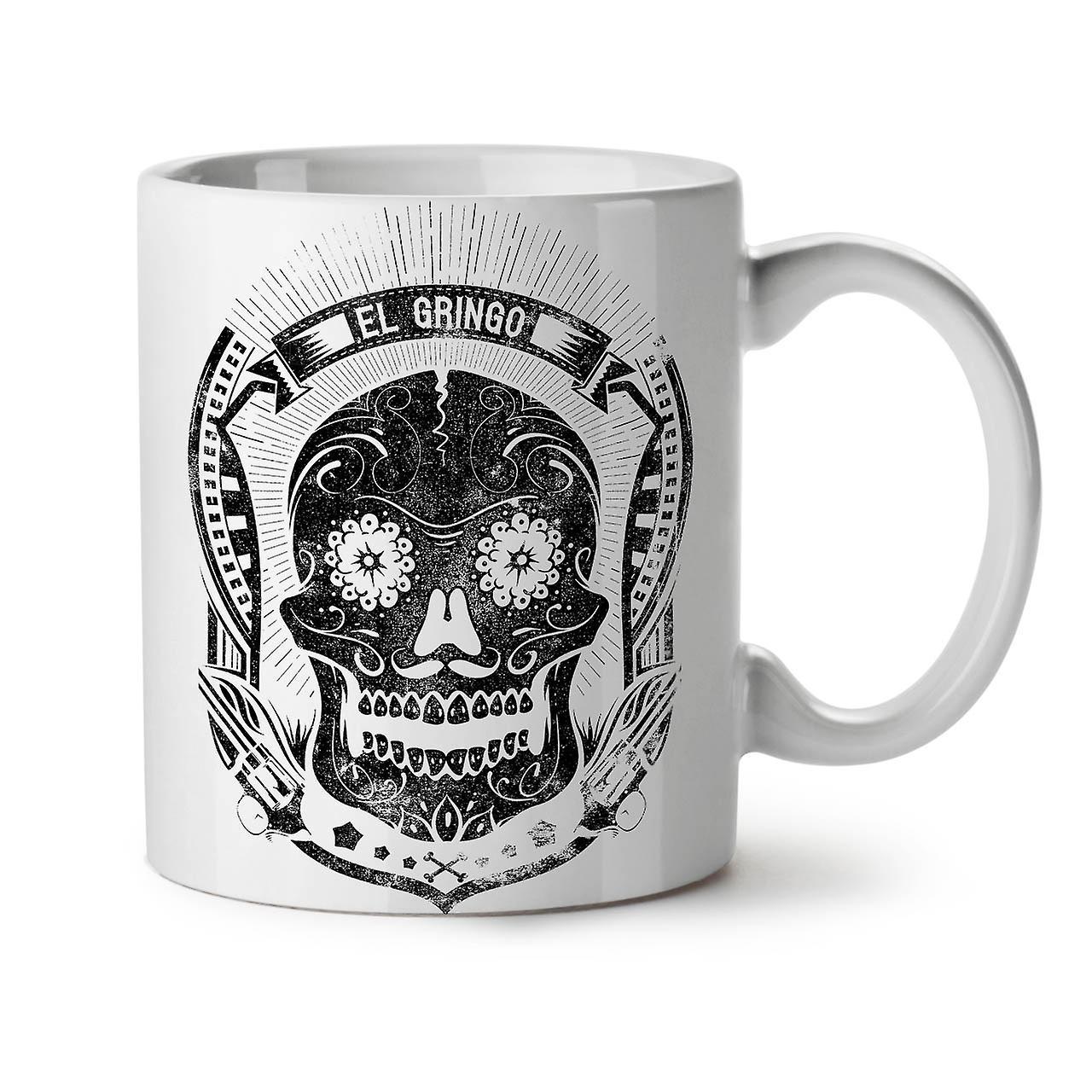 Crâne Céramique Mort Thé Café Nouveau OzWellcoda Blanc 11 Mexicain Tasse QroWCBedx