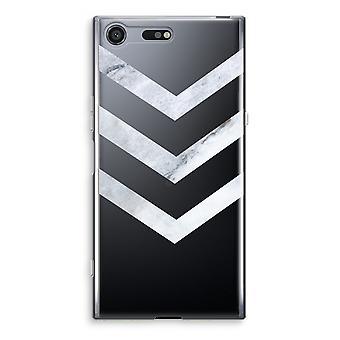 Sony Xperia XZ Premium Transparent Case - Marble arrows