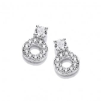 Cavendish French CZ Solitiare and Circle Earrings