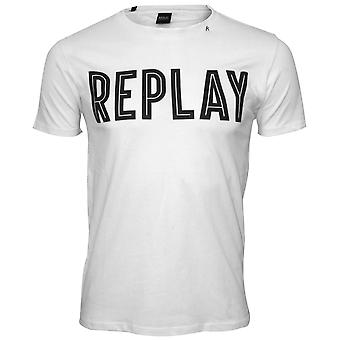 Replay djärva Logo T-Shirt, vit