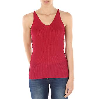 Pinko women's 1N11UAY43YN94 red cotton tank top