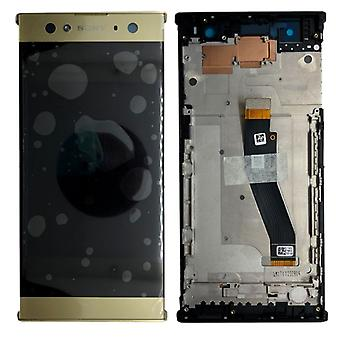 Sony display LCD complete unit with frame for Xperia XA2 ultra gold spare part