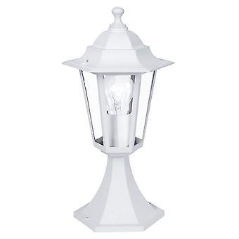 Eglo Lanterna kleine witte pilaar lantaarn licht