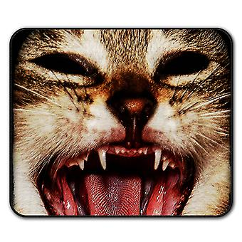 Cute Animal Funny Cat  Non-Slip Mouse Mat Pad 24cm x 20cm | Wellcoda