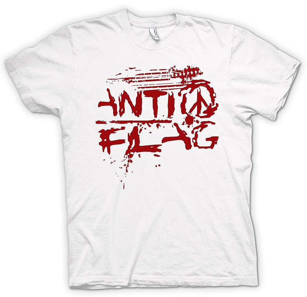 Womens T-shirt-Anti - Flag - U.S. - Punk rockband - anarchie