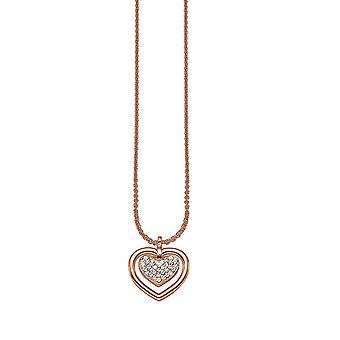 ESPRIT women's kedja halsband silver cubic zirconia inom Rosé ESNL91573B420
