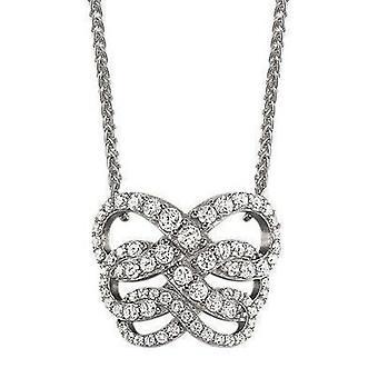 Zirconi ESPRIT donna catena collana argento FLEURY ESNL91799A420