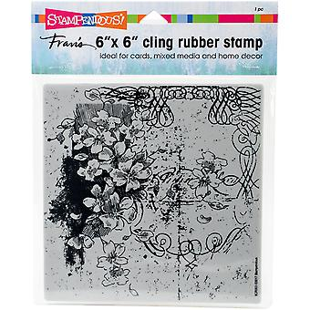 Stampendous Cling Stamps -Blossom Scroll
