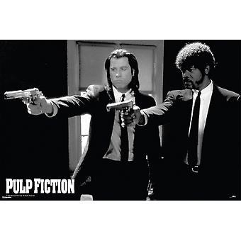 Pulp Fiction Guns Poster Poster Print