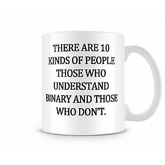 Binary Printed Mug