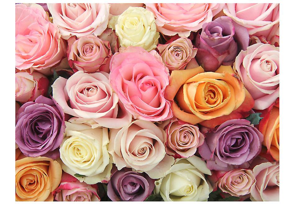 Wallpaper - Pastel roses