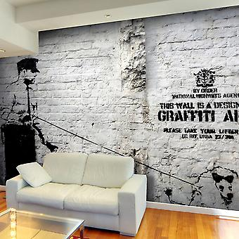 Papel de parede Graffiti - Banksy - área
