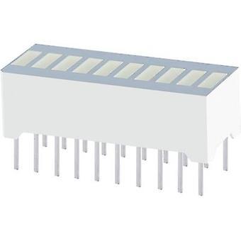 LED bargraph array 10x Green (W x H x D) 25.4 x 10.16 x 8 mm Kin