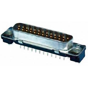 TE Connectivity AMPLIMITE HD-20 D-SUB pin strip 180 ° Number of pins: 25 Print 1 pc(s)