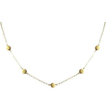 Gemshine - ladies - necklace - gold plated - STARDUST - sphere - 50 cm