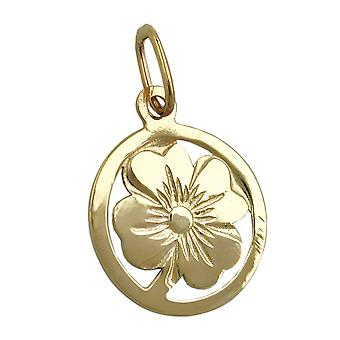 Gold leaf pendants clover 375 followers, clover, 9 KT GOLD