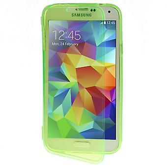 Handyhülle Flip Quer für Handy Samsung Galaxy S5 / S5 Neo Hellgrün