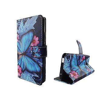 Telefono cellulare custodia per mobile farfalla ZTE blade L3 blu