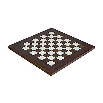 17 Inch Dark Briarwood and Elmwood Luxury Chess Board