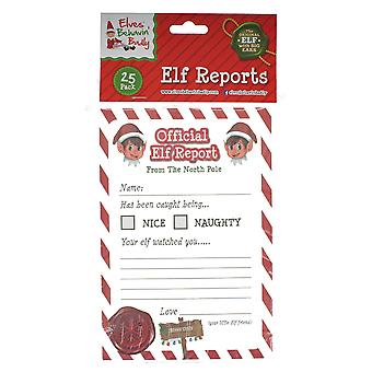 Elves Behavin Badly 25 A5 Offical Christmas Elf Report Card Pack