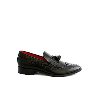 Handcrafted Premium Leather Claro Black Loafer